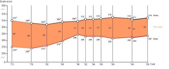 NAEP Chart: Reading Scores Age 17 Black-White Gap http://nationsreportcard.gov/ltt_2008/ltt0005.asp?subtab_id=Tab_3&tab_id=tab2#chart